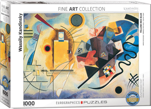 Fine Art (Kandinsky) Yellow Red Blue - EuroGraphics 1,000 piece Jigsaw Puzzle