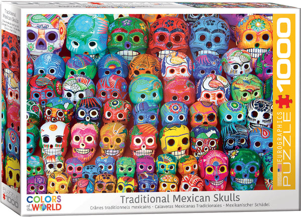 Traditional Mexican Skulls - EuroGraphics 1,000 piece Jigsaw Puzzle