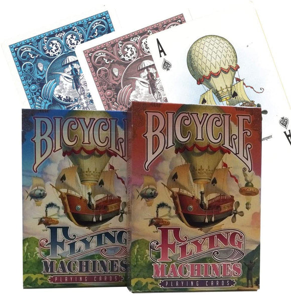 Playing Cards: Flying Machines  (Red or Blue Deck)- Bicycle
