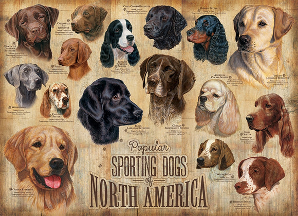 Sporting Dogs - Cobble Hill 1,000 piece Jigsaw Puzzle