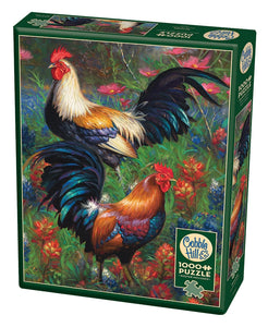 Roosters - Cobble Hill 1,000 piece Jigsaw Puzzle