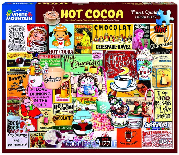 Hot Cocoa - White Mountain 1000 pc Jigsaw Puzzle (larger pieces)