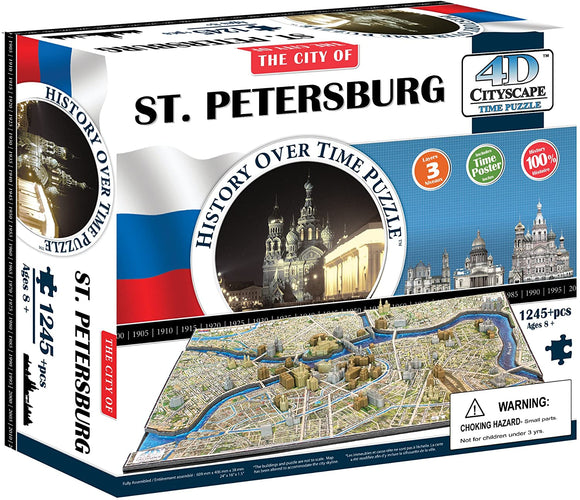 4D Puzzles - St. Petersburg History Over Time - 4D Cityscape 1245+pcs