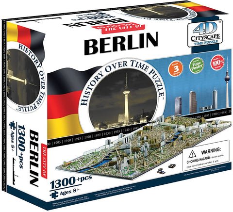 4D Puzzles - Berlin History Over Time - 4D Cityscape 1300+ pcs