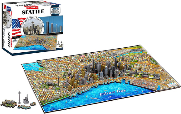 4D Puzzles - Seattle History Over Time - 4D Cityscape 1100 pcs