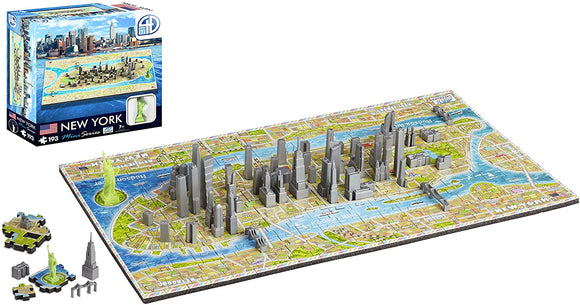 3D/4D Puzzles - Mini New York- 4D Cityscape 193 piece jigsaw puzzle