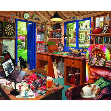 Dad's Hideaway (larger pieces) White Mountain 1000 pc Jigsaw Puzzle