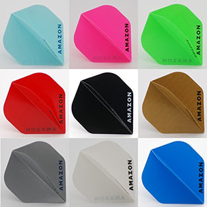 10 Sets of Standard Amazon Dart Flights (Assorted Colours)