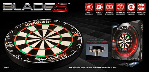 Winmau Blade 5 Dartboard and 2 Sets of Brass Darts Kit.