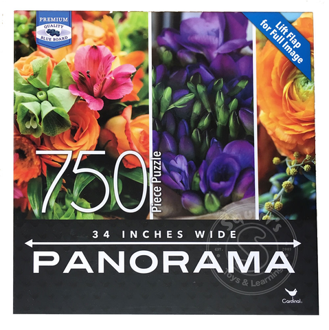 750 piece -Flowers (Panoramic) - Cardinal