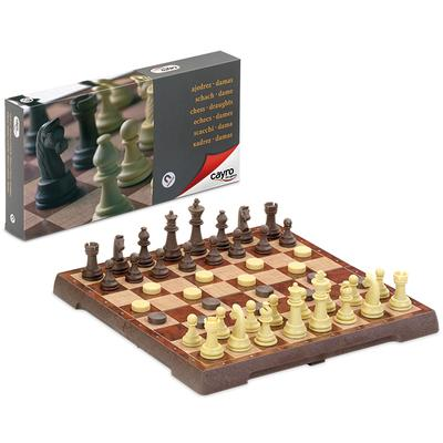 NEW ARRIVAL: Chess: Magnetic Chess & Draught Set Large - Cayro