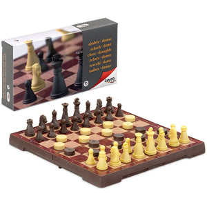 Chess: Magnetic Chess & Draught Set Small - Cayro