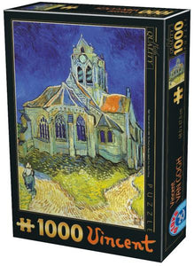 Fine Art (Van Gogh) The Church at Auvers - DToys 1000 piece jigsaw puzzle