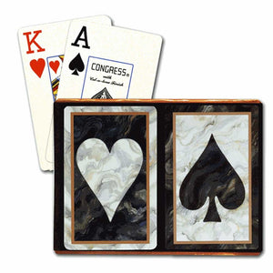 Playing Cards: Black Marble (2 Sets) - Congress