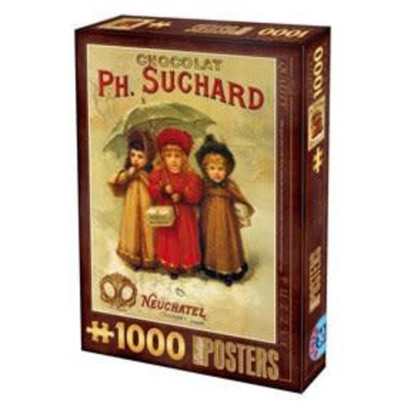 Vintage Posters - Chocolat Ph.Suchard  - DTOYS 1000 piece Jigsaw Puzzle