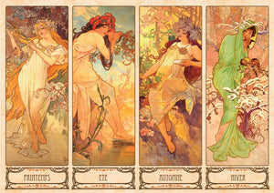 Fine Art (Mucha) Seasons - DTOYS 1000 piece jigsaw puzzle