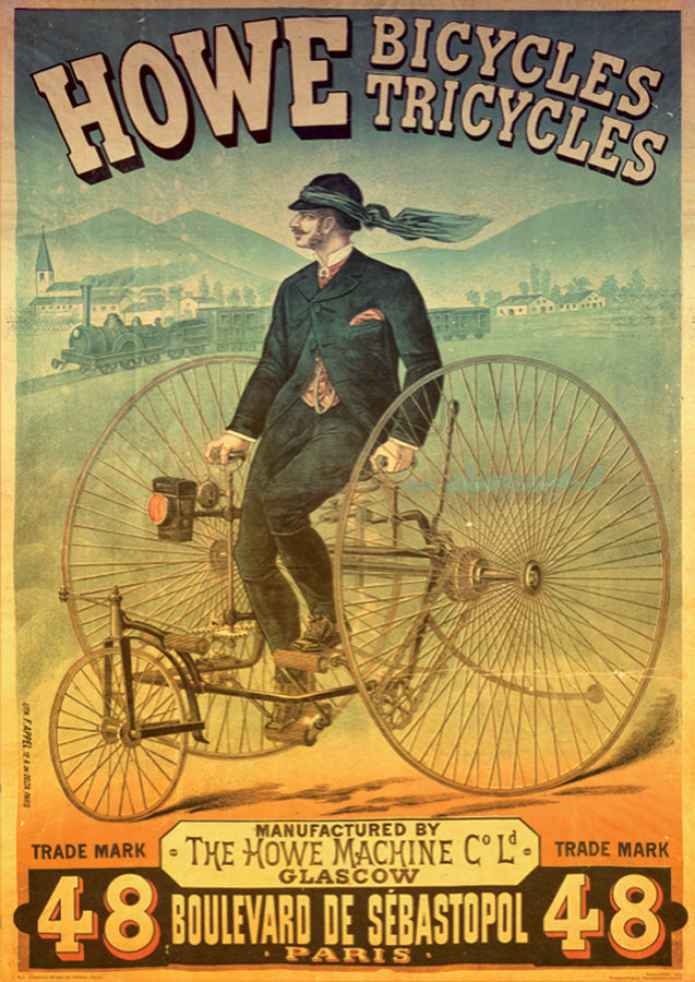 Vintage Posters - Howe Bicycles  - DTOYS 1000 piece Jigsaw Puzzle