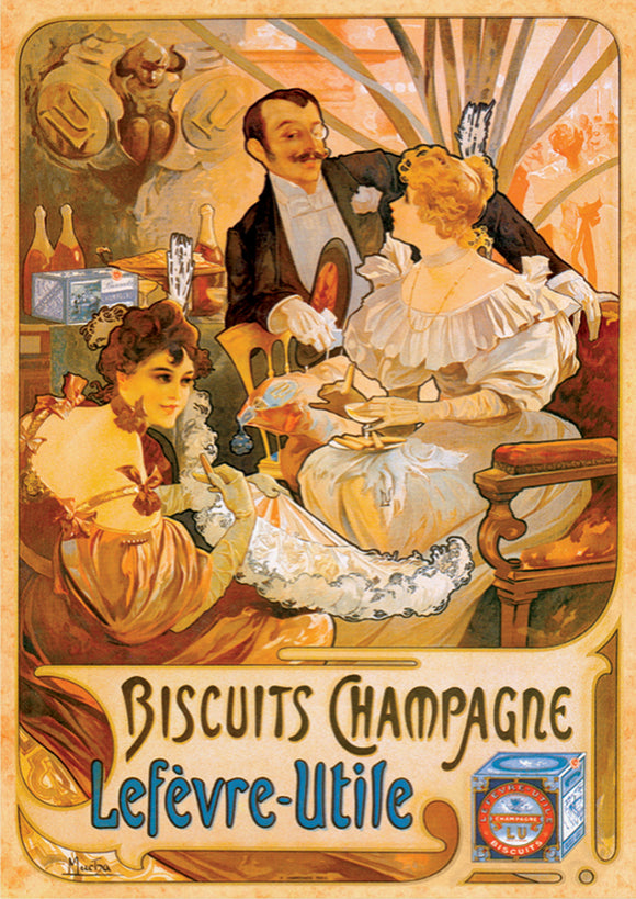 Vintage Posters (Mucha) Biscuits Champagne - DTOYS 1000 piece Jigsaw Puzzle