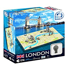 3D/4D Puzzles - Mini London- 4D Cityscape 174 piece jigsaw puzzle