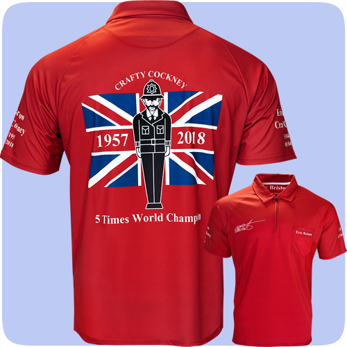 Official Eric Bristow Crafty Cockney Dart Shirt