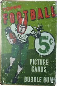 Topps 1956 Football Vintage Distressed Tin Sign
