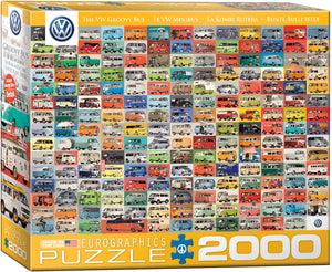 VW Groovy Bus - EuroGraphics Jigsaw Puzzle 2000 pcs