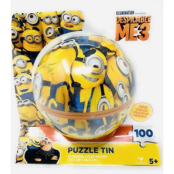 Kids Puzzle -Minions: Despicable Me 3 - 100 piece (Round Puzzle Tin)