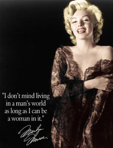 Marilyn Monroe - Man's World Tin Sign