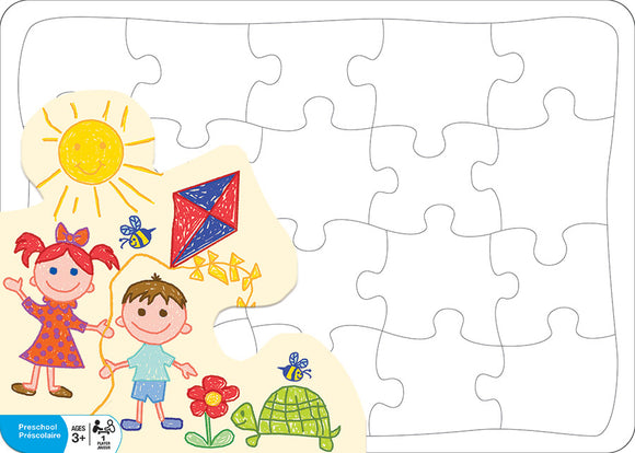 Kids: Create Your Own Puzzle - Cobble Hill 20 piece blank board Jigsaw Puzzle