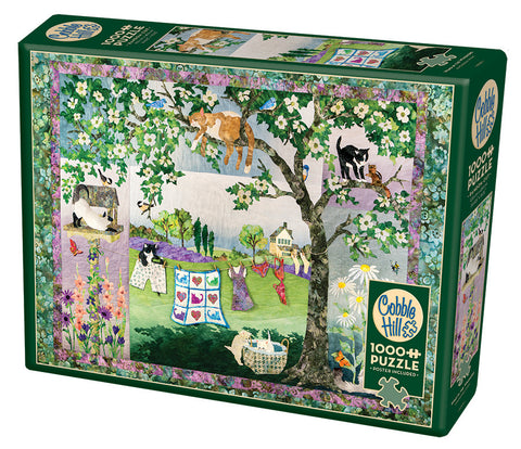 Wind In The Whiskers - CobbleHIll 1,000 piece Jigsaw Puzzle