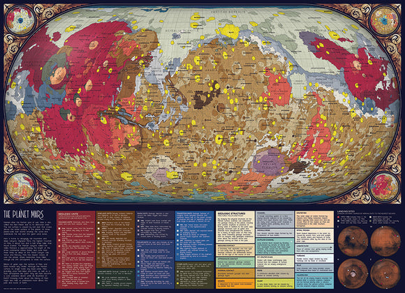 The Planet Mars - Cobblehill 1,000 piece Jigsaw Puzzle