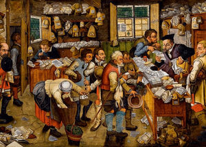 Fine Art (Breughel) The Payment of the Tithes - DToys 1,000 piece Jigsaw Puzzle
