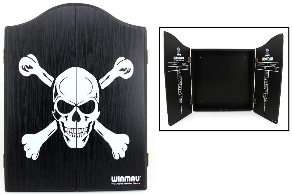 Winmau Skull and Crossbones Dartboard Cabinet