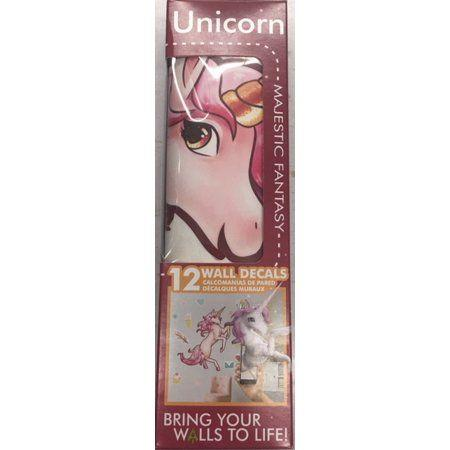 Unicorn Interactive Wall Decal (12 decals in box) - Decalcomania