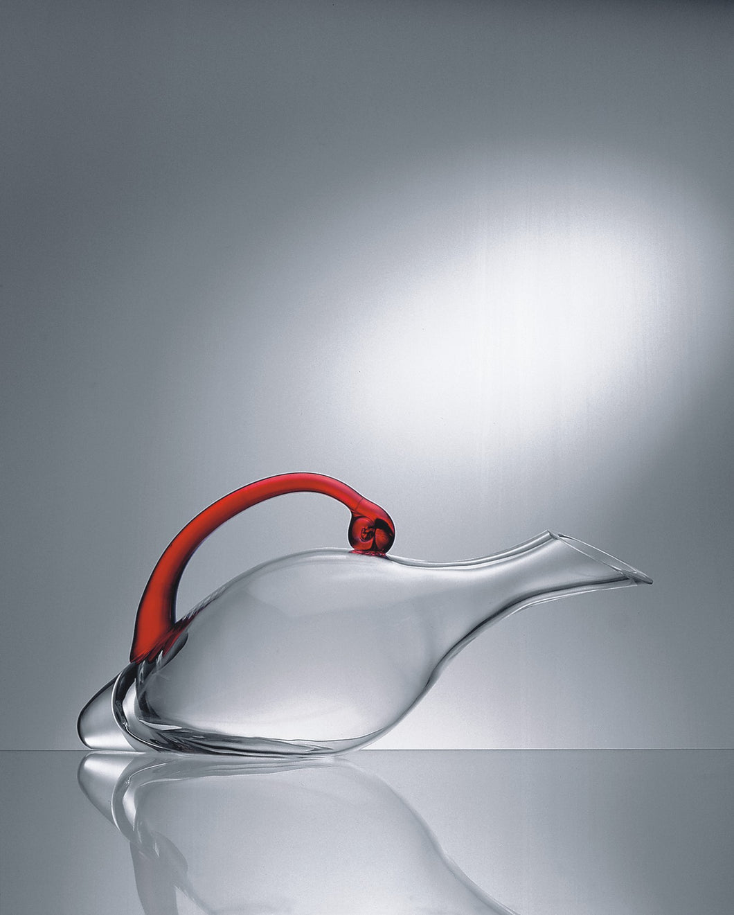 Duck Decanter with Red Handle