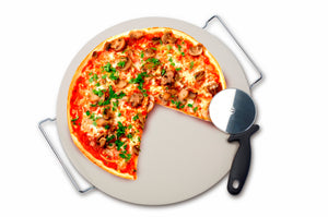 Pizza Stone and Cutter