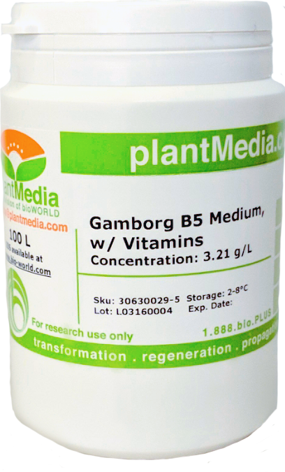 Gamborg B5 Medium, w/ Vitamins