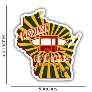 Wisconsin Pop Up Camper Group Decals