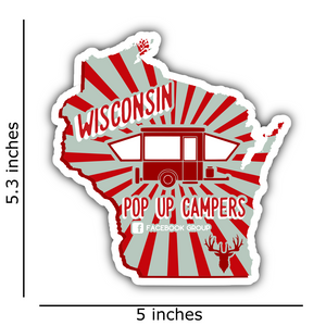 Wisconsin Pop Up Campers - Red & Grey