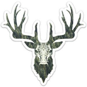 Evergreen Stag (5.07 in. x 5 in.)