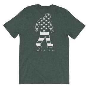 'Merica Squatch - Short-Sleeve T-Shirt (Print on back)