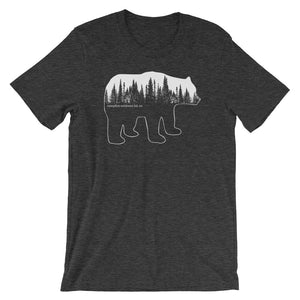 Bear in the Pines - Short-Sleeve Unisex T-Shirt