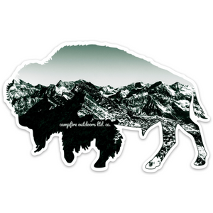 Rocky Mountain Bison (5 in. x 3.17 in.)