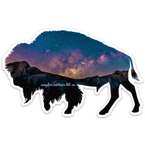 Starry Night Bison (5 in. x 3.17 in.)