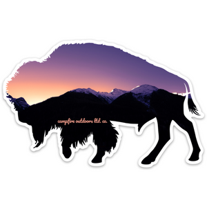 Sunset Bison (5 in. x 3.17 in.)