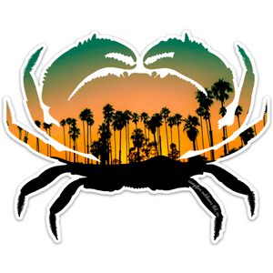 Tropical Sunset Crab (6 in. x 4.81 in.)