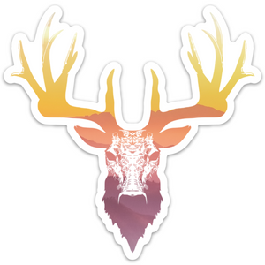 Mountain Sunset Stag (5 in. x 4.93 in.)