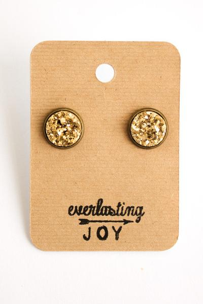 Sunshine & Whiskey Studs - Gold