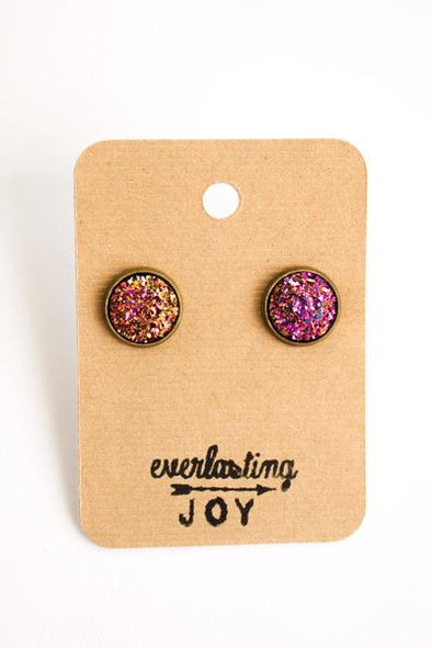Sunshine & Whiskey Studs - Party Pink