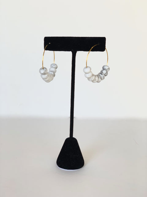Marble Orchard Hoops in Gold